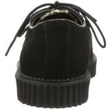 Gamuza 2,5 cm CREEPER-600 Zapatos de Creepers Hombres Plataforma