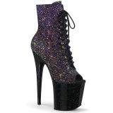 Glitter 20 cm FLAMINGO-1021OMBG peep toe botines plataforma exotic pole dance