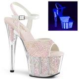 Glitter plataforma 18 cm ADORE-710UVG sandalias de tacón pole dance