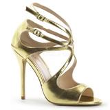 Gold Matte 13 cm AMUSE-15 High Heeled Evening Sandals