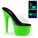 Green 18 cm ADORE-701UVG neon platform mules womens
