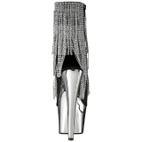 Gris 18 cm ADORE-1024RSF botines con flecos de mujer tacón altos