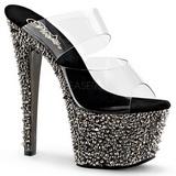 Gris 18 cm BEJEWELED-702SP Piedras Brillantes Plataforma Zapatos