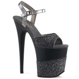 Gris Brillo 20 cm Pleaser FLAMINGO-809-2G Tacones Altos Plataforma