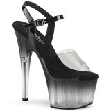 Gris transparente 18 cm ADORE-708T-2 Zapatos de striptease