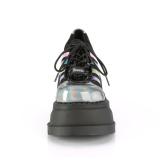 Holograma 12,5 cm STOMP-08 lolita botines cuña alta plataforma