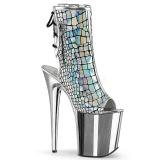 Holograma 20 cm FLAMINGO-1018HG botines con plataforma mujer