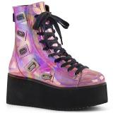 Holograma 7 cm GRIP-103 lolita botines góticos botines cuña alta