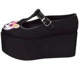 Kitty lona 8 cm CLICK-04-1 zapatos góticos calzados suela gruesa