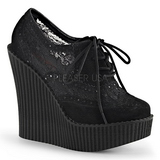 Lace Fabric CREEPER-307 creepers wedges women shoes