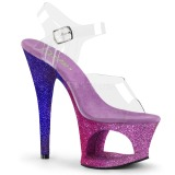 Lavanda purpurina 18 cm Pleaser MOON-708OMBRE Zapatos con tacones pole dance