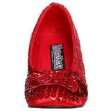 Lentejuelas 5 cm DOROTHY-01 zapatos de salón tacón bajo