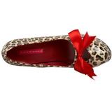 Leopardo 14,5 cm Burlesque TEEZE-12 Zapatos de tacón altos mujer
