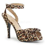 Leopardo Satinado 12,5 cm EVE-01 sandalias tallas grandes