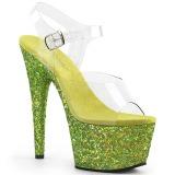 Lima purpurina 18 cm Pleaser ADORE-708LG Zapatos con tacones pole dance