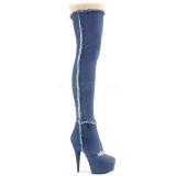 Lona 15 cm DELIGHT-3007 Botas de mujer hasta la rodilla