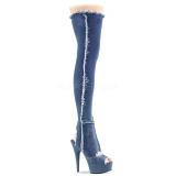 Lona 15 cm DELIGHT-3030 Botas de mujer hasta la rodilla