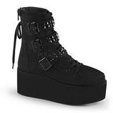 Lona 7 cm GRIP-101 lolita góticos botines suela gruesa