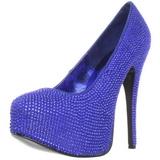 Luz Azul Piedras Strass 14,5 cm TEEZE-06R Plataforma Zapato Salón