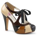 Marron 11,5 cm retro vintage BETTIE-19 Zapatos de tacón altos mujer