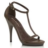 Marron 12,5 cm Fabulicious POISE-526 sandalias de tacón alto