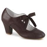 Marron 6,5 cm WIGGLE-32 retro vintage zapatos de salón maryjane tacón ancho
