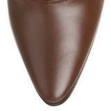 Marron 7 cm VICTORIAN-120 Botines de Cordones Altos Mujer