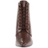 Marron 7 cm VICTORIAN-35 Botines de Cordones Altos Mujer