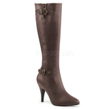 Marron Polipiel 10 cm DREAM-2030 botas tallas grandes