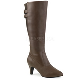 Marron Polipiel 7,5 cm DIVINE-2018 botas tallas grandes