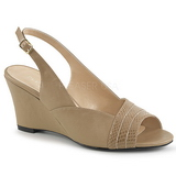 Marron Polipiel 7,5 cm KIMBERLY-01SP sandalias tallas grandes