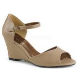 Marron Polipiel 7,5 cm KIMBERLY-05 sandalias tallas grandes
