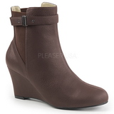 Marron Polipiel 7,5 cm KIMBERLY-102 botines tallas grandes