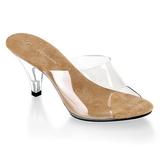 Marron Transparente 8 cm BELLE-301 Zuecos de mujer para Hombres