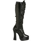 Mate 13 cm ELECTRA-2042 plataforma botas de mujer con hebillas