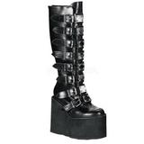 Mate 14 cm SWING-815 plataforma botas de mujer con hebillas