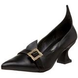 Mate 6,5 cm SALEM-06 Zapatos de Salón Bruja Planos Tacón
