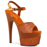 Naranja 18 cm ADORE-709-2G brillo plataforma sandalias de tacón alto