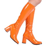Naranja Charol 8,5 cm GOGO-300 Botas de mujer para Hombres