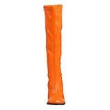 Naranja Lacado 7,5 cm Funtasma GOGO-300 Botas Media Mujer