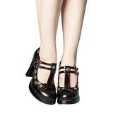 Negro 10,5 cm CRYPTO-06 Mary Jane Zapatos de Salón