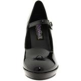 Negro 10 cm CONTESSA-50 Mary Jane Zapatos de Salón