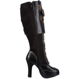 Negro 10 cm CRYPTO-302 plataforma botas de mujer con hebillas