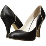 Negro 10 cm SMITTEN-04 Pinup zapatos de salón tacón bajo