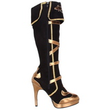 Negro 11,5 cm ARENA-2012 botas de mujer tacón altos
