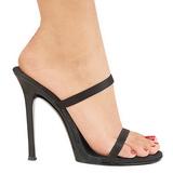 Negro 11,5 cm Fabulicious GALA-02 Mulas Tacones Altos Mujer