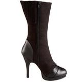 Negro 11,5 cm SPLENDOR-130 botines con suela plataforma de mujer