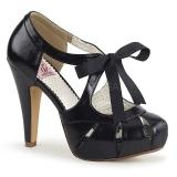 Negro 11,5 cm retro vintage BETTIE-19 Zapatos de tacón altos mujer