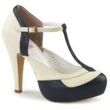 Negro 11,5 cm retro vintage BETTIE-29 Pinup zapatos de salón con plataforma escondida