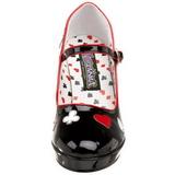 Negro 11 cm CONTESSA-57 Zapatos de tacón altos mujer